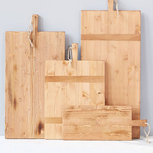 These reclaimed wood charcuterie boards look beautiful in your kitchen when they're not in use, too! #ABlissfulNest