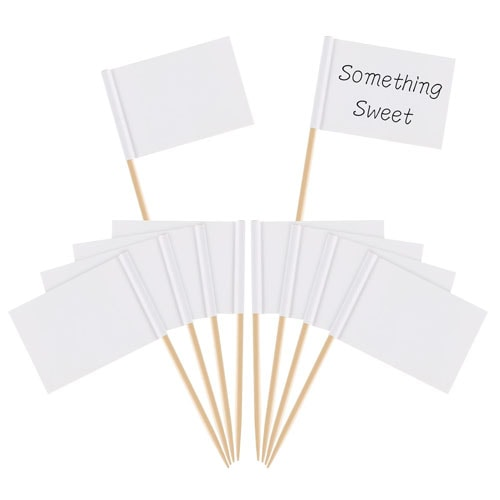 These white toothpick flags are perfect for marking foods in your next charcuterie board! #ABlissfulNest