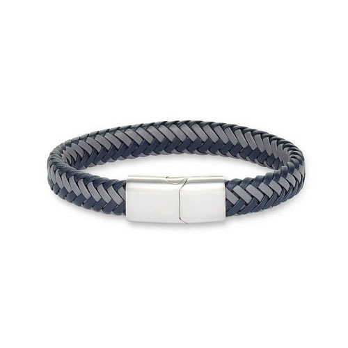 This blue woven leather bracelet is such a fun gift for dad! #ABlissfulNest