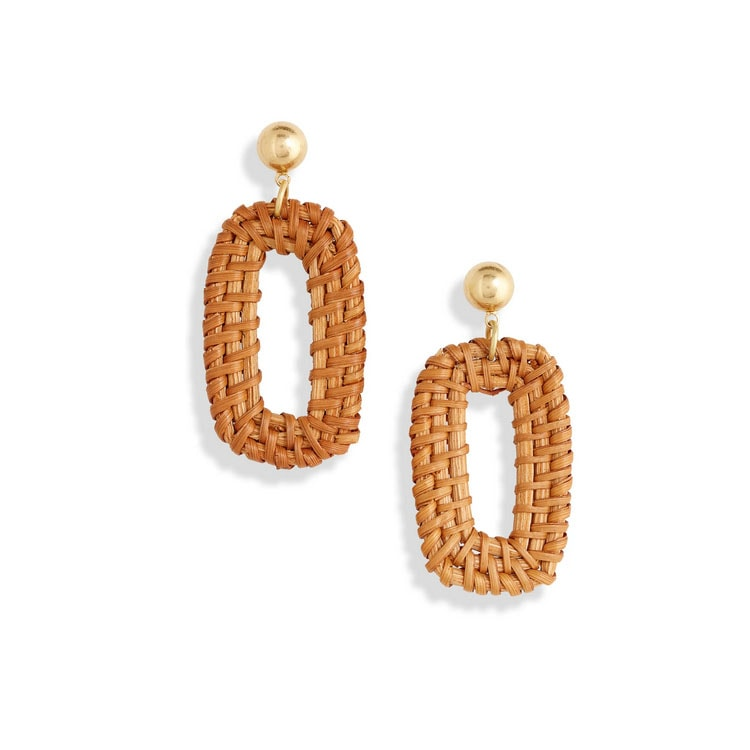 These rattan earrings are SO cute for summer! #ABlissfulNest