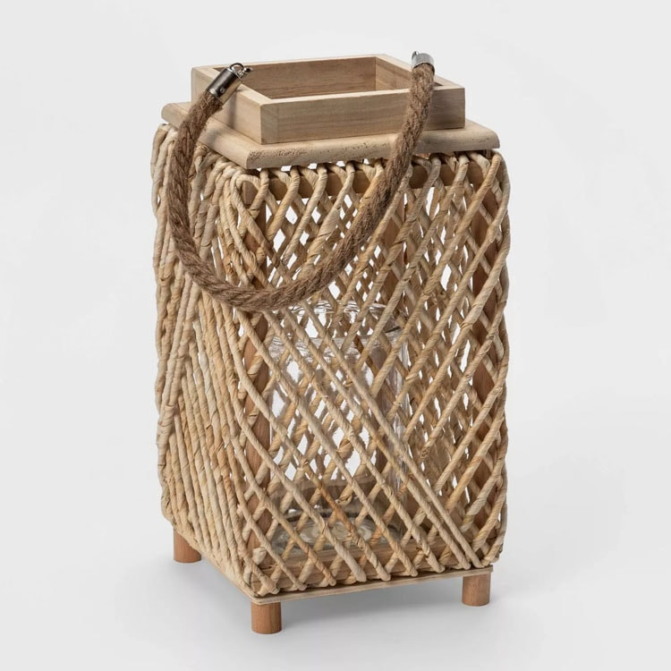 These rattan lanterns are such a fun decor piece for your patio this season! #ABlissfulNest