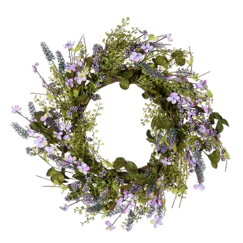 This lavender wreath is a gorgeous summer wreath for your front door! #ABlissfulNest