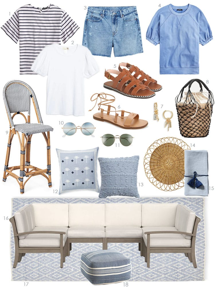 Sharing a collection of the best outdoor decor for spring including outdoor pillows, drinking glasses, lanterns, outdoor rugs, outdoor lights, and more! #ABlissfulNest #outdoordecor #patiodecor