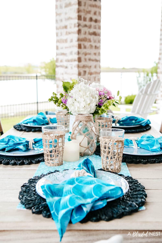 Coastal Table Decor For Summer