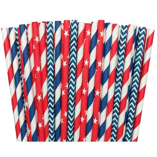 ¡Estas pajitas patrióticas son imprescindibles para todos tus entretenimientos este verano!  #ABlissfulNest