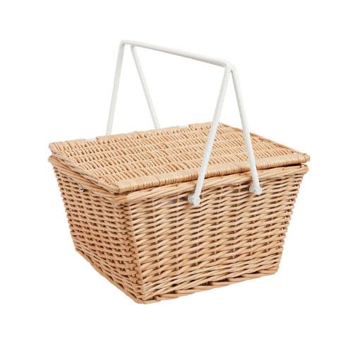 Esta canasta de picnic es un complemento perfecto para agregar un poco de textura a su espacio de vida al aire libre este verano, ¡también es funcional!  #ABlissfulNest