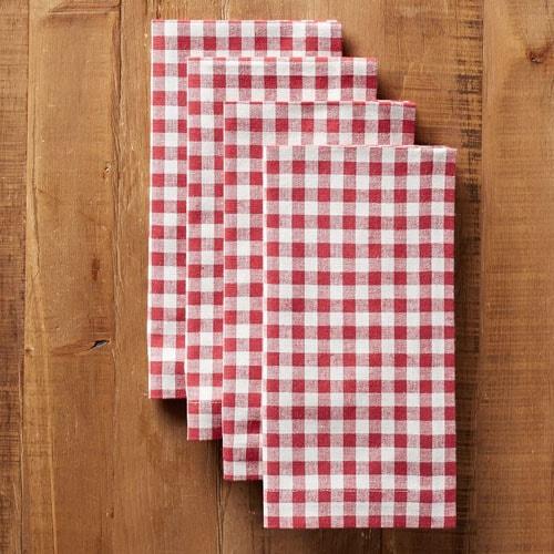 ¡Estas servilletas de lino de cuadros rojos gritan verano!  #ABlissfulNest