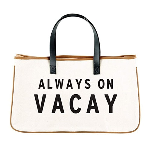This canvas beach tote is an under $40 Amazon find you need for your next trip this summer! #ABlissfulNest