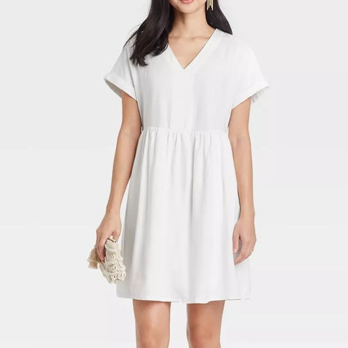This $20 white shirtdress is a summer must have, especially for your beach trips this season! #ABlissfulNest