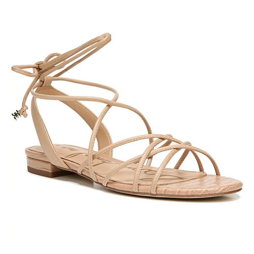 The cutest summer sandal with the most fun ankle-tie detailing! #ABlissfulNest