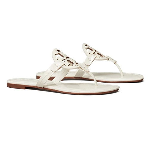 These Tory Burch Miller Sandals are a summer staple, especially in this beautiful white! #ABlissfulNest
