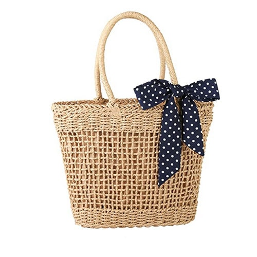 This straw tote is an under $30 Amazon find - perfect for summer! #ABlissfulNest