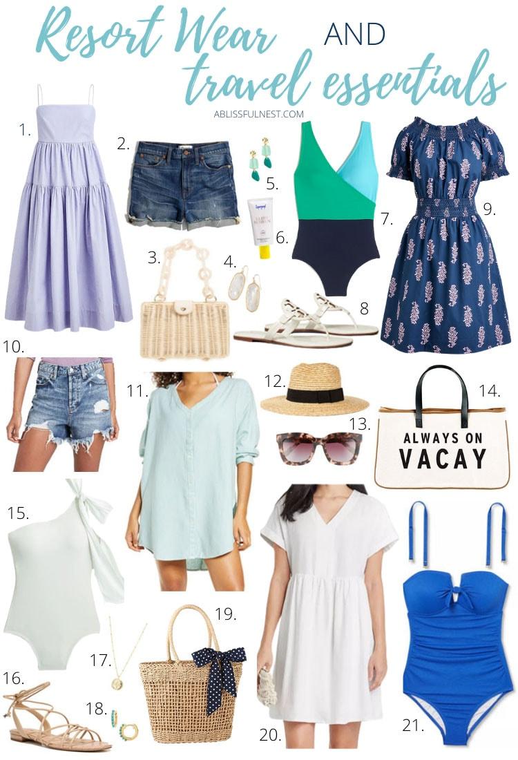 Resort Wear + Travel Essentials
