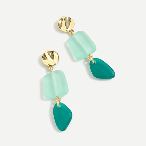 These sea glass drop earrings are under $30 and are a must have for your summer trip! #ABlissfulNest