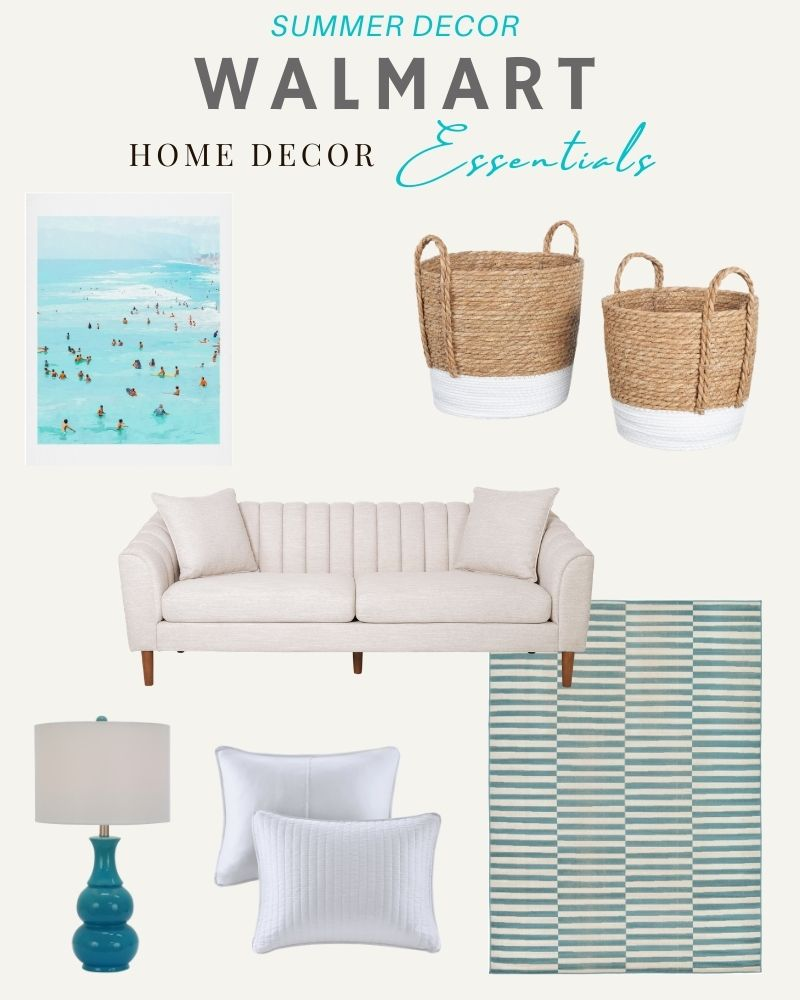 Home decor favorites from Walmart for summer. #ABlissfulNest #WalmartHome #ad