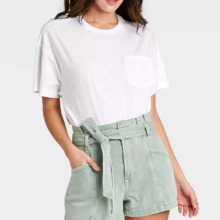 This white boxy t-shirt is $8 and such a perfect summer basic! #ABlissfulNest