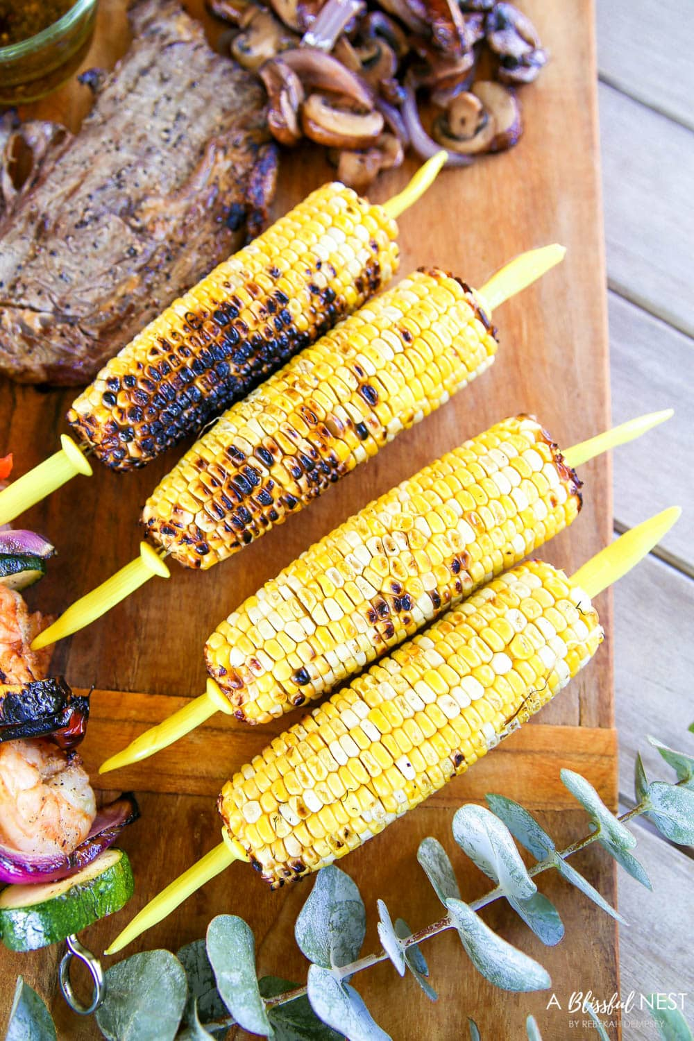 Turn your bbq and grilling recipes into a summer grilling charcuterie board! #ABlissfulNest #charcuterieboard #appetizers