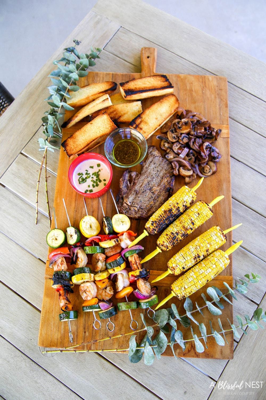 Simple Steak Grilled Summer Charcuterie Board