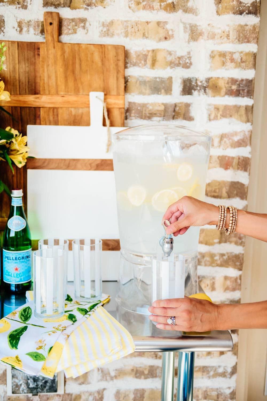 Love this oversized drink dispenser for fresh cold lemon water for the summer. #ABlissfulNest #WalmartHome #ad