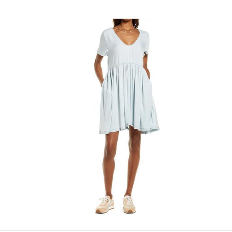 ¡Este vestido midi azul con costuras es perfecto para el verano!  #ABlissfulNest