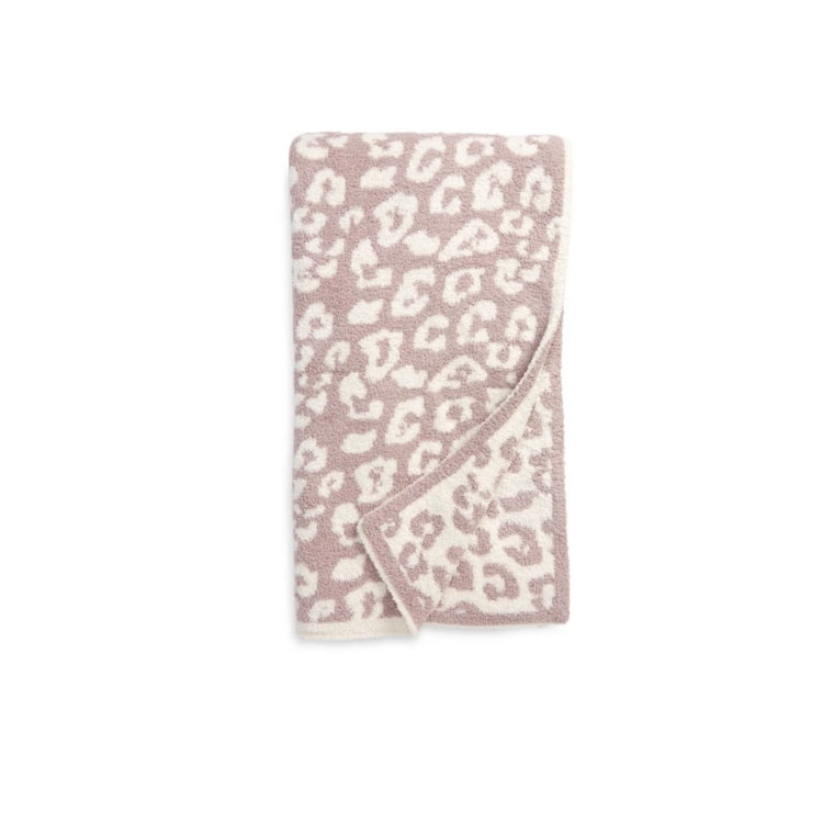 This leopard printed Barefoot Dreams throw blanket is a must have! #ABlissfulNest