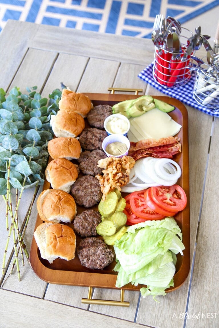 How to Make a Summer Hamburger Charcuterie Board