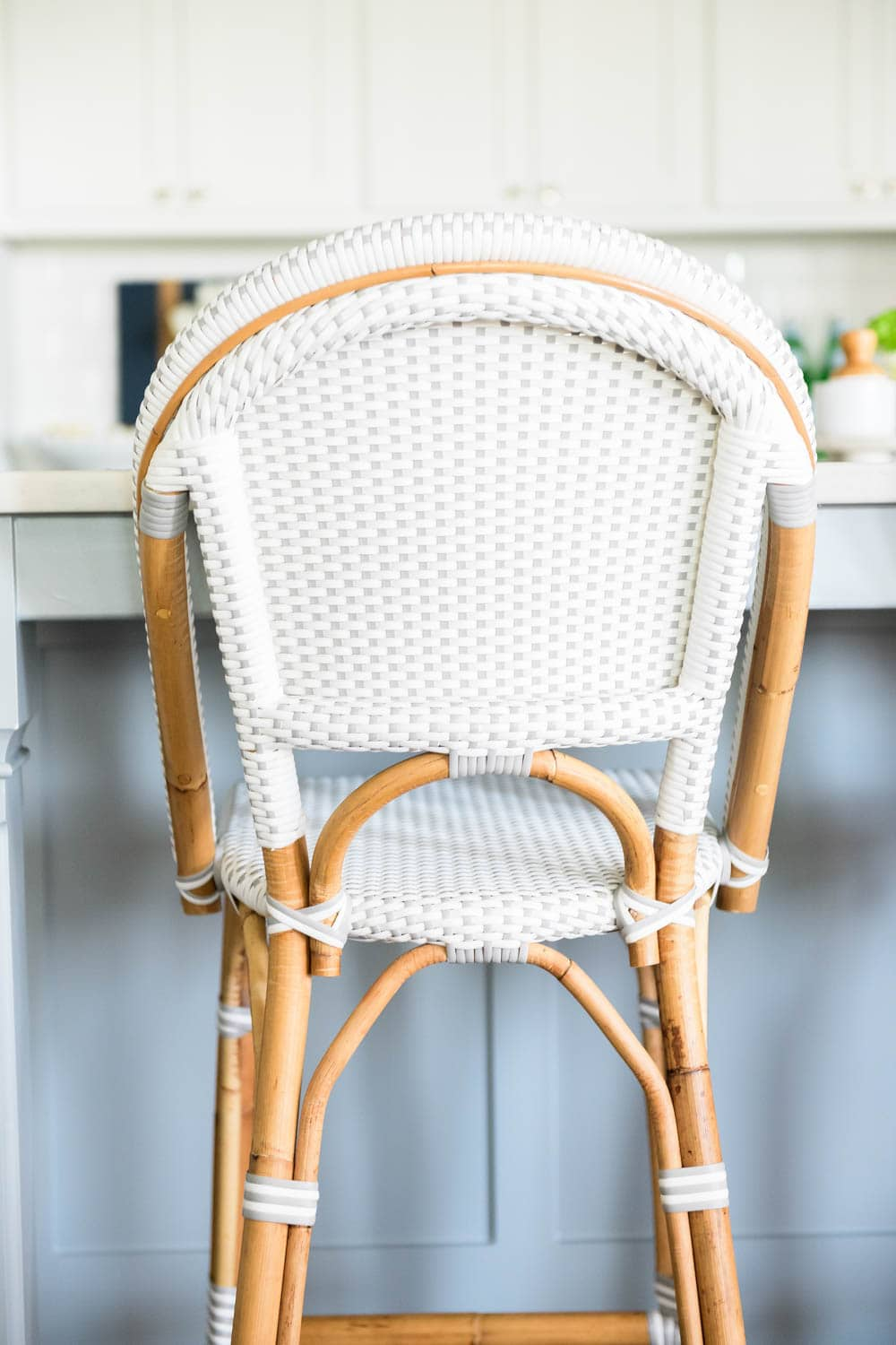 A detailed review of the Serena and Lily Riviera barstool after 3 years of having it. #ABlissfulNest #serenaandlily
