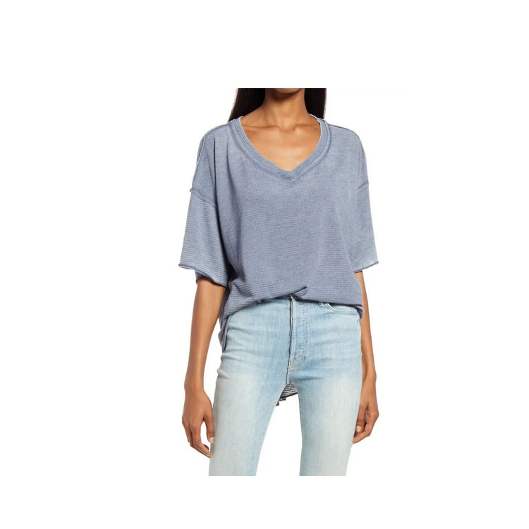 This blue high-low top is such a fun afforadble top! #ABlissfulNest