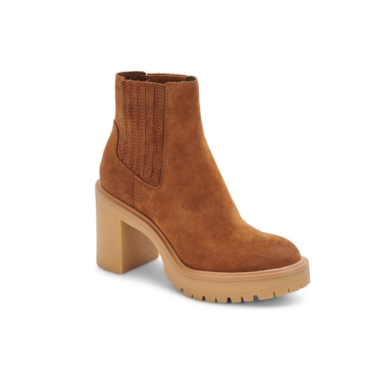 These suede block heel booties are such a fun fall find! #ABlissfulNest