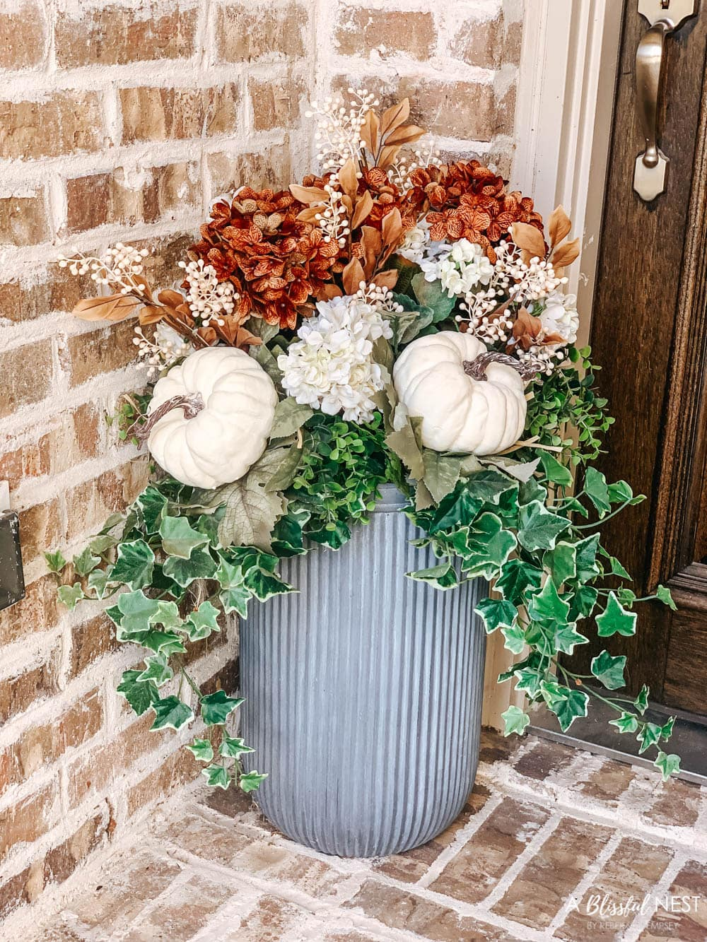 Small Porch Fall Decorating Ideas with Hobby Lobby   A Blissful Nest