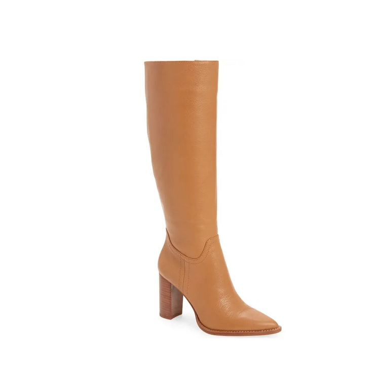 These knee high leather boots are a must have for fall! #ABlissfulNest