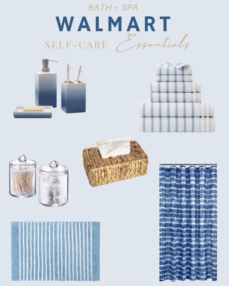 Affordable bathroom decor pieces for a coastal, clean and modern look. #ABlissfulNest #bathroom #bathroomdesign