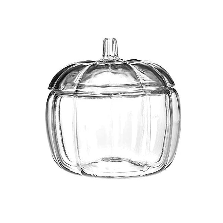 This glass pumpkin jar is the perfect piece of fall decor! #ABlissfulNest